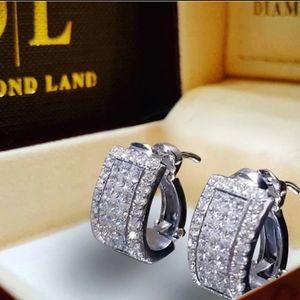 🎀925 Crystal Hoop Earrings